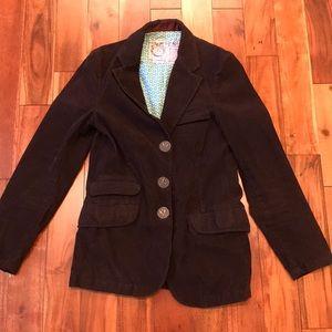 Trovata Brown Corduroy Slim Fit Sport Coat